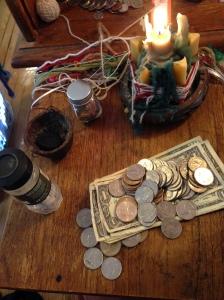 Preparing the money for its big trip