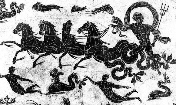 Poseidon and chariot